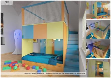 Letto Soppalco Con Cabina Armadio.Leonardo Walk In Closet Loft Bed